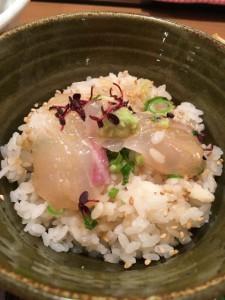 胡麻ダレの鯛と飯